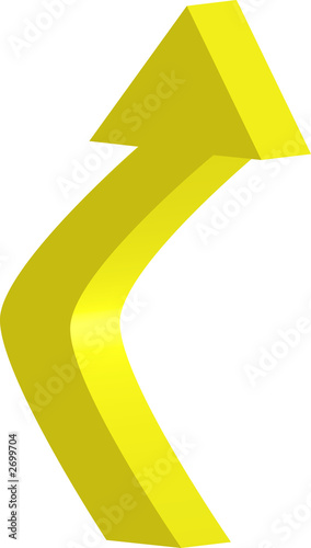 3d yellow arrow