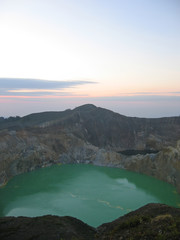 the green crater lake, kelimutu volcano, flores, indonesia