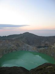 the green crater lake, kelimutu volcano, flores, indonesia