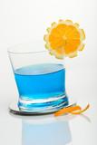 glass of blue shark poster