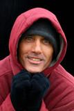 man in the hooded sweatshirt poster