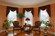 living room with bay window