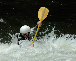 paddler in rapids
