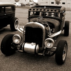 Model A Coupe Ratrod In Sepia