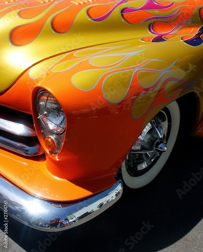 Custom Flamed Hotrod Car