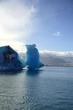 icebergs, iceland poster