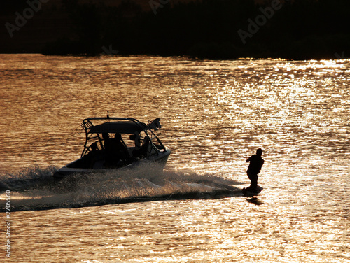 Canvas Water Motorsp. last run of the day (wakeboarder)