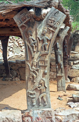 dogon scultpure in mali, africa
