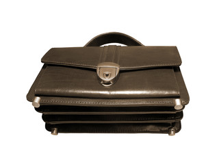 briefcase (case) isolated for business tone