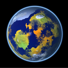 3d rendering of the earth