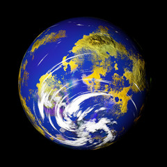 storm watch - 3d rendering of the earth