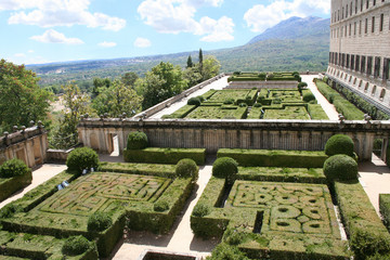 the royal monastery el escorial, spain. view at south-east surro