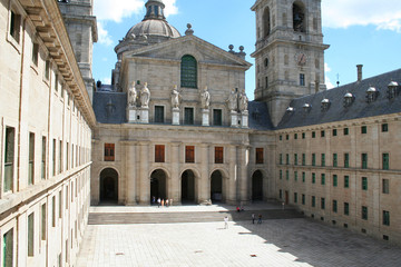the royal monastery el escorial, spain. the courtyard of the kin