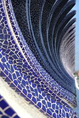 blue mosaic wave