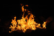 campfire wth billowing flames - 2708943
