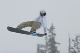 snowboard nose grab poster