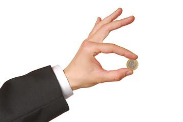 showing euro