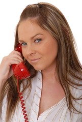 lovely brunette woman on telephone 2