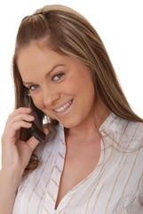 lovely brunette woman on telephone 4