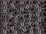 inverted hundred dollar notes poster