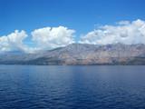 biokovo mountain reflection in adriatic sea 2 poster
