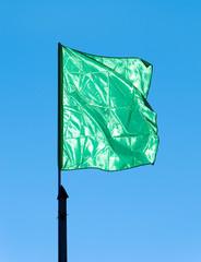 green flag waving