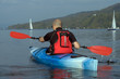 Leinwanddruck Bild - kayaking on lake windermere