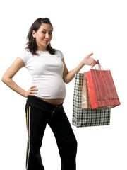 pregnant woman shopping