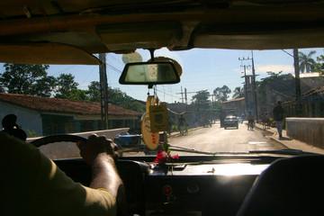 driving along, cuba