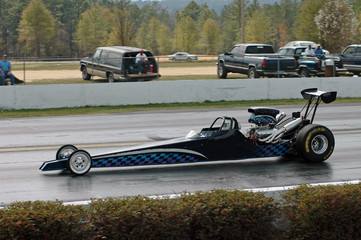 dragster on the move