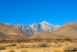 mountain range landscape in death valley national park poster