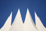 roof of building structure on blue sky poster