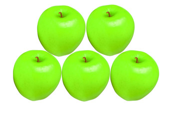 apples green color isolated