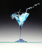 canvas print picture cocktail bleu
