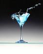 Leinwandbild Motiv cocktail bleu