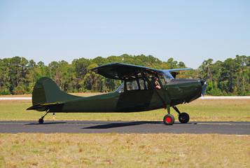 vintage dark green airplane