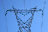 top of the huge electricity pylon poster