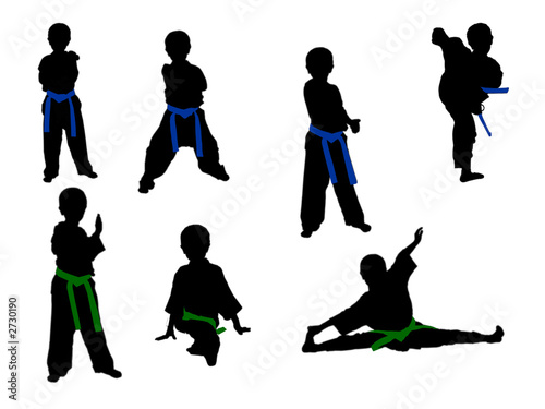 taekwondo children in middle stage