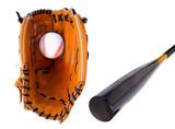 baseball glove and bat poster