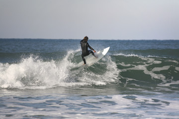 surfer making a floater