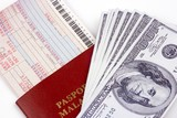 airline ticket and money poster