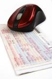 online airline ticket poster