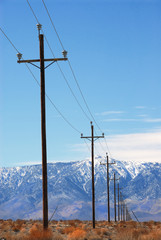 power poles death valley