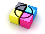 Fototapety cmyk boxes with a cross