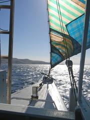 sailing ship, komodo archipelago, indonesia