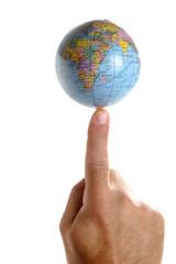 world on a finger tip