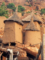 dogon house in mali, africa