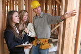 construction (focus on woman on left) poster