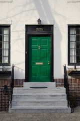 bright green door
