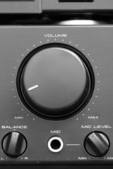 volume control on amp unit